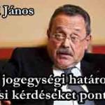 Bánáti János- A jogegységi határozat eljárási kérdéseket pontosíthat