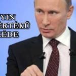 Putyin példaértékű beszéde