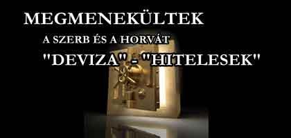 Megmenekültek a szerb és horvát devizahitelesek