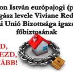 DR.KRISTON ISTVÁN LEVELE VIVIANE REDING EU IGAZSÁGÜGYI FŐBIZTOSNAK