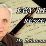 DR- LÉHMANN: EGY LEVÉL RÉSZEMRE.