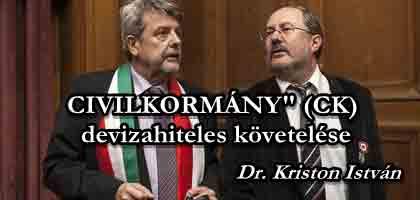 """""""CIVILKORMÁNY"""" (CK) devizahiteles követelése Széles Gábor nagytőkéshez és a CÖF-höz."""