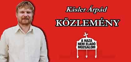 KÁSLER ÁRPÁD-KÖZLEMÉNY.
