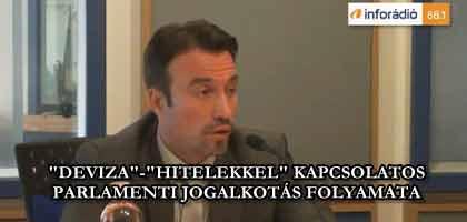"""""""DEVIZA""""-""""HITELEKKEL"""" KAPCSOLATOS PARLAMENTI JOGALKOTÁS FOLYAMATA InfoRádió - Aréna - Orbán Gábor."""