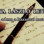 PÓKA LÁSZLÓ LEVELE AZ NCK-NAK