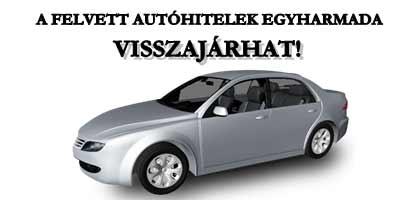 A FELVETT AUTÓHITELEK EGYHARMADA VISSZAJÁRHAT!