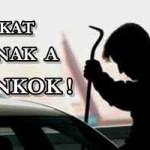 AUTÓKAT LOPNAK A BANKOK
