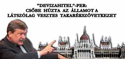 """""""DEVIZAHITEL""""-PER: CSŐBE HÚZTA AZ ÁLLAMOT A LÁTSZÓLAG VESZTES TAKARÉKSZÖVETKEZET!"""