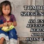 TOMBOL A SZEGÉNYSÉG - HA ENNÉL KEVESEBBET KERESEL, KOMOLY BAJBAN VAGY!