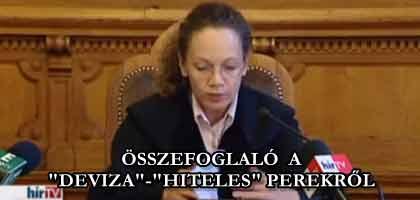 """ÖSSZEFOGLALÓ A """"DEVIZA""""-""""HITELES"""" PEREKRŐL."""