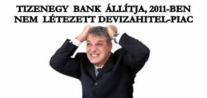 TIZENEGY BANK ÁLLÍTJA, 2011-BEN NEM LÉTEZETT DEVIZAHITEL-PIAC.