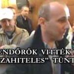 """RENDŐRÖK VITTÉK EL A """"DEVIZAHITELES"""" TÜNTETŐKET."""