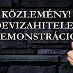"""KÖZLEMÉNY! """"DEVIZAHITELES"""" DEMONSTRÁCIÓ!"""