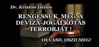 A MEGOLDÁS - RENGESSÜK MEG A DEVIZA-JOGALKOTÁS TERRORJÁT!