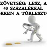BANKSZÖVETSÉG: LESZ, AKINEK 40 SZÁZALÉKKAL CSÖKKEN A TÖRLESZTŐJE
