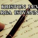 DR. KRISTON LEVELE VARGA ISTVÁNNAK.