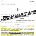JÓ HÍR – MKB BANK IS KIÜTVE!