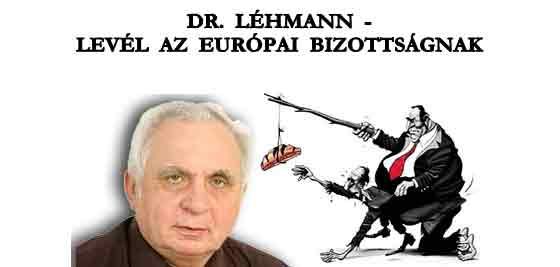 DR. LÉHMANN - LEVÉL AZ EURÓPAI BIZOTTSÁGNAK.