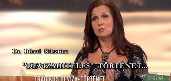 """DR. BIHARI KRISZTINA - """"DEVIZAHITELES"""" TÖRTÉNET."""
