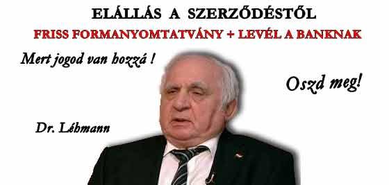 DR. LÉHMANN - ELÁLLÁS A SZERZŐDÉSTŐL FRISS FORMANYOMTATVÁNY!