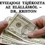 DEVIZAJOGI TÁJÉKOZTATÓ AZ ELÁLLÁSRÓL – DR. KRISTON
