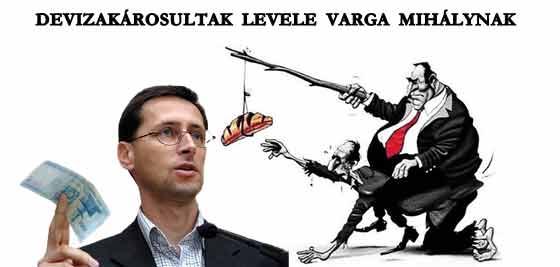 DEVIZAKÁROSULTAK LEVELE VARGA MIHÁLYNAK.