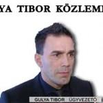 GULYA TIBOR KÖZLEMÉNYE