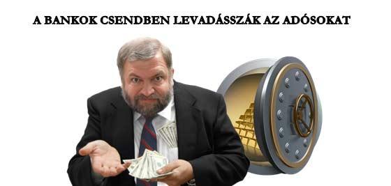 A BANKOK CSENDBEN LEVADÁSSZÁK AZ ADÓSOKAT.