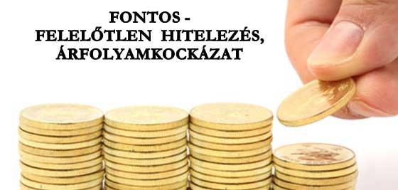 FONTOS-FELELŐTLEN HITELEZÉS, ÁRFOLYAMKOCKÁZAT.