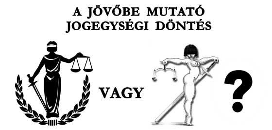 A JÖVŐBE MUTATÓ JOGEGYSÉGI DÖNTÉS.