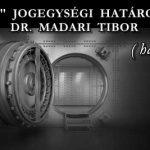 """""""DEVIZÁS"""" JOGEGYSÉGI HATÁROZATRÓL-DR. MADARI TIBOR."""