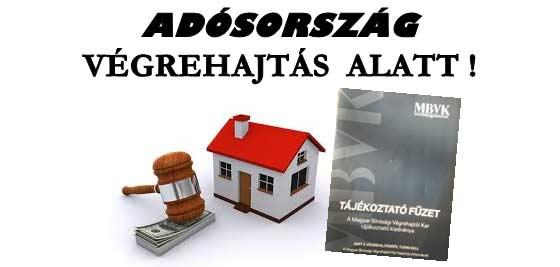 ADÓSORSZÁG VÉGREHAJTÁS ALATT.