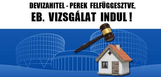 DEVIZAHITEL - PEREK FELFÜGGESZTVE, EB. VIZSGÁLAT INDUL!
