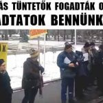 DEVIZÁS TÜNTETŐK FOGADTÁK ORBÁNT-ELADTATOK BENNÜNKET!