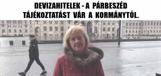 DEVIZAHITELEK-A PÁRBESZÉD TÁJÉKOZTATÁST VÁR A KORMÁNYTÓL.