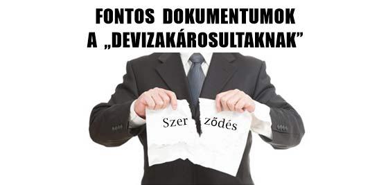 """FONTOS DOKUMENTUMOK A """"DEVIZAKÁROSULTAKNAK""""-BARABÁS GYULÁTÓL."""