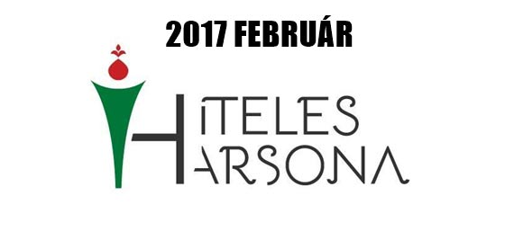 HITELES HARSONA 2017 FEBRUÁR.