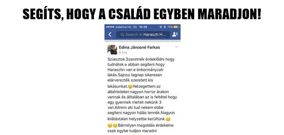 SEGÍTS, HOGY A CSALÁD EGYBEN MARADJON!