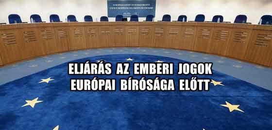 ELJÁRÁS AZ EMBERI JOGOK EURÓPAI BÍRÓSÁGA ELŐTT.