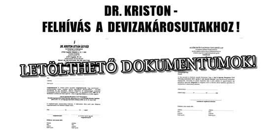 DR.KRISTON-FELHÍVÁS A DEVIZAKÁROSULTAKHOZ! 2017.